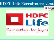 HDFC Life Recruitment 2020