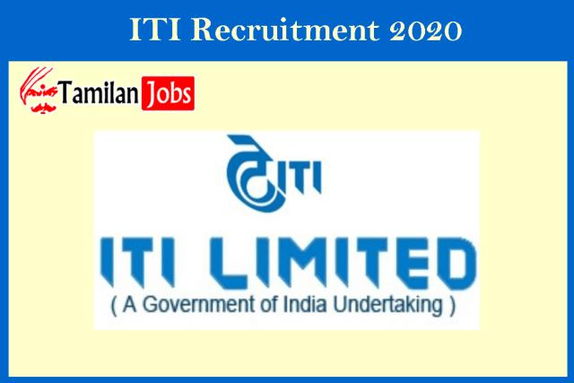 ITI Recruitment 2020