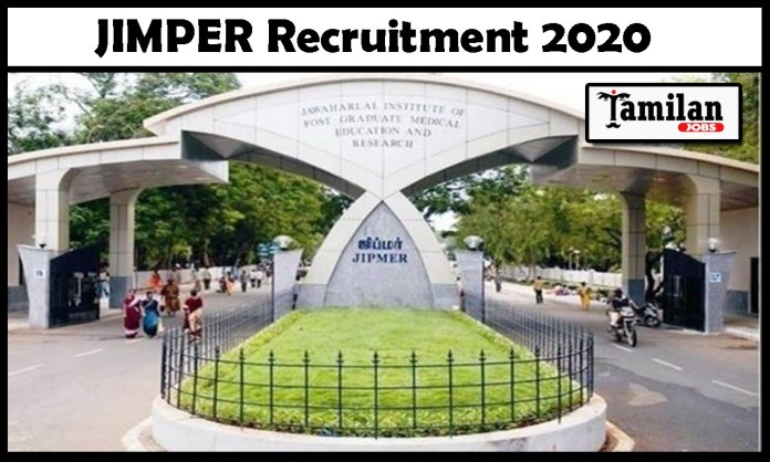 JIPMER Recruitment 2020 Out – Apply Online 59 Professor Jobs