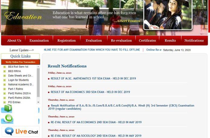 Jammu University Results 2020 OUT   B.Sc, BA, B.com, M.A, M.Com, M.Sc Results @ jammuuniversity.in