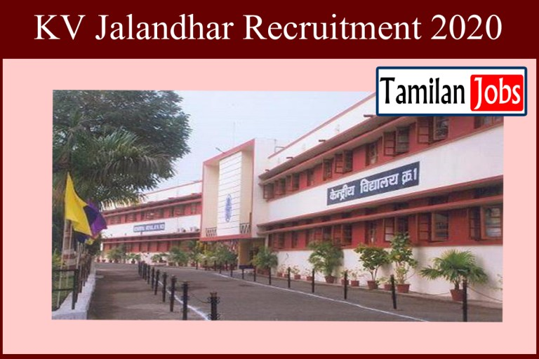KV Jalandhar Recruitment 2020 Out – Apply Various PRT Jobs