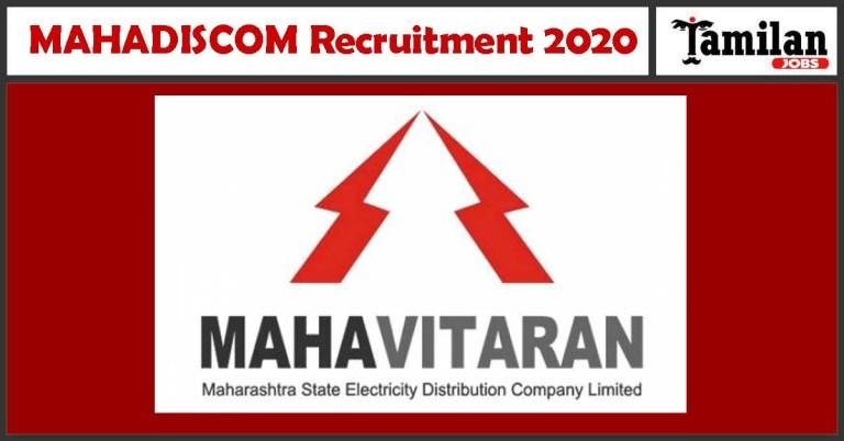 MAHADISCOM Recruitment 2020 Out – Apply Online 90 Apprentice Jobs