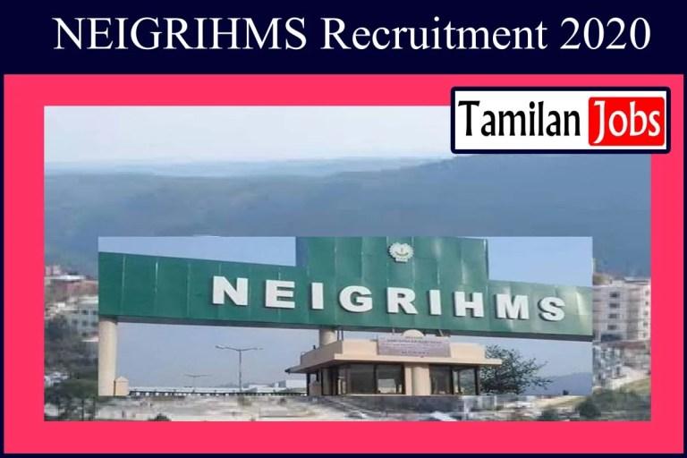 NEIGRIHMS Recruitment 2020 Out – 48 Senior Resident Doctor Jobs