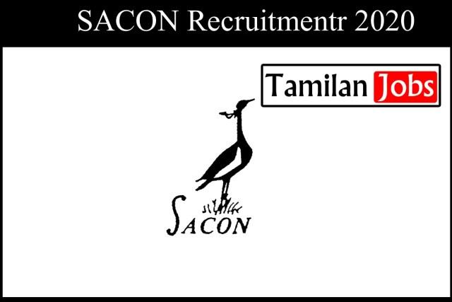 SACON Recruitment 2020