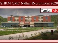 SHKM GMC Nalhar Recruitment 2020