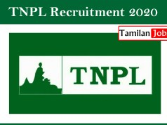 TNPL Recruitment 2020