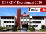 DBSKKV Recruitment 2020