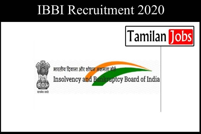 IBBI Recruitment 2020 Out – Research Associate Jobs