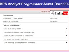 IBPS Analyst Programmer Admit Card 2020