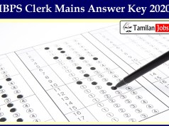 IBPS Clerk Mains Answer Key 2020