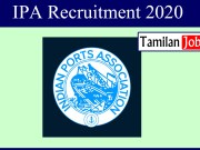 IPA Recruitment 2020
