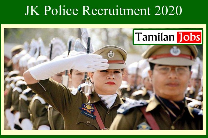 JK Police Recruitment 2020 Out – 39 SPO Jobs