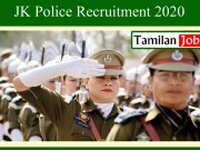 JK Police Recruitment 2020