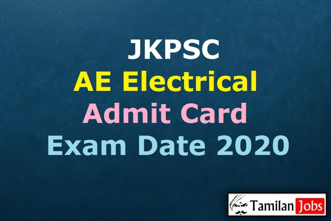 JKPSC AE Electrical Admit Card 2020