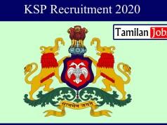 KSP Recruitment 2020