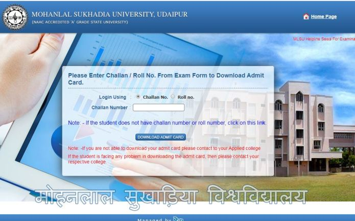 MLSU Admit Card 2020 OUT | BA, B.Sc, MA, M.Sc Semester Exam Hall Ticket