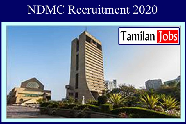 NDMC Recruitment 2020
