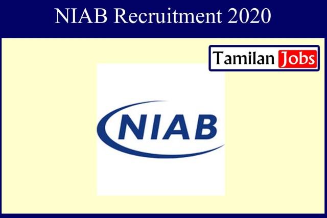 NIAB Recruitment 2020