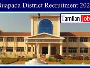 Nuapada District Recruitment 2020