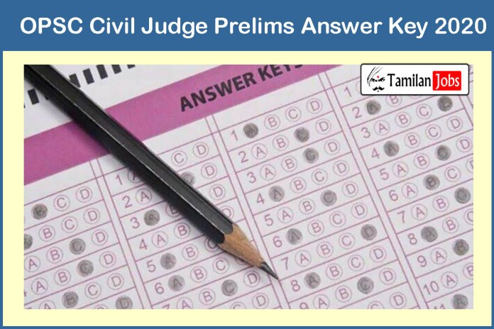 OPSC Civil Judge Prelims Answer Key 2020 Out – Download Here