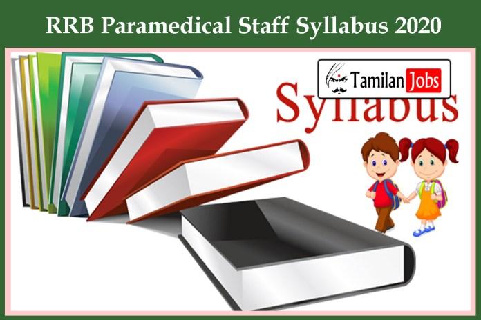 RRB Paramedical Staff Syllabus 2020