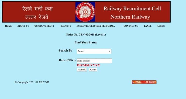 RRC NR Apprentice Result 2020 OUT   Download DV Selection List