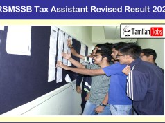 RSMSSB Tax Assistant Revised Result 2020