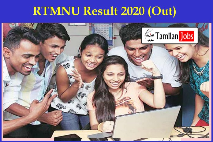 RTMNU Result 2020 (Out)   UG/ PG Part I, II, III Exams Results