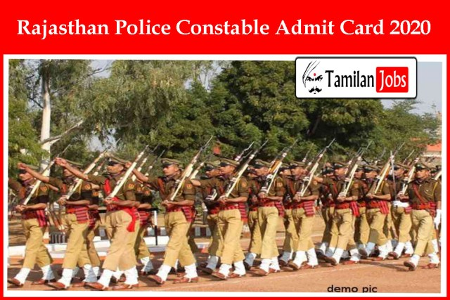 Rajasthan Police Constable Admit Card 2020