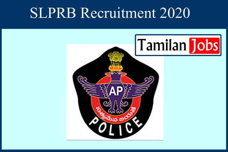 SLPRB Recruitment 2020 Out – 1658 SI & Constable Jobs