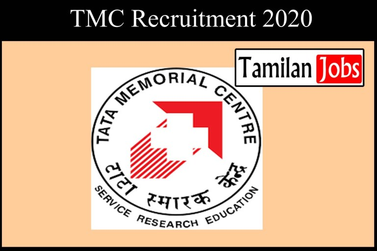 TMC Recruitment 2020 Out – Apply Online 37 Scientific Officer Jobs