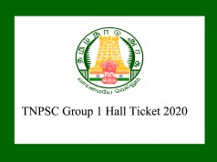 TNPSC Group 1 hall ticket 2020
