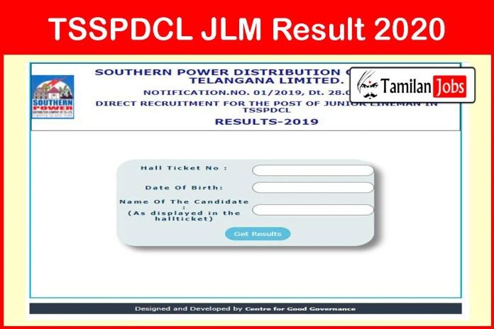 TSSPDCL JLM Result 2020