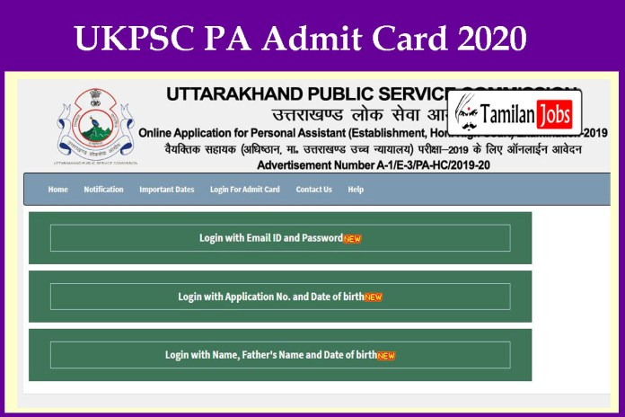 UKPSC PA Admit Card 2020 (Out) – Download Now