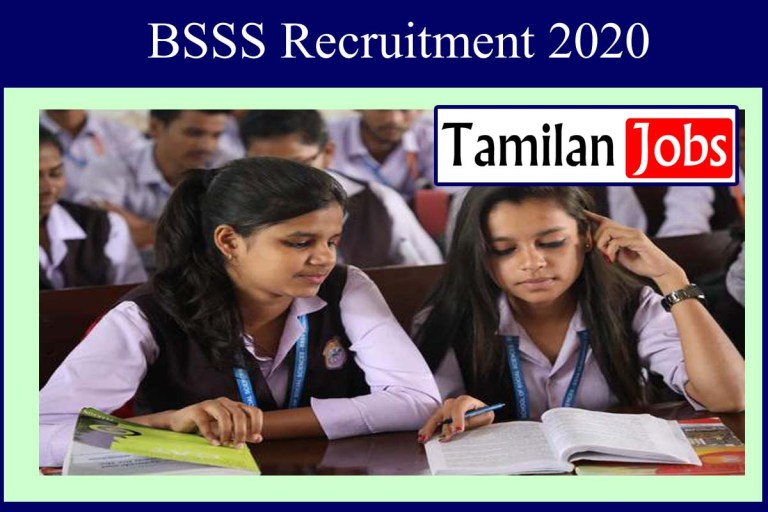 BSSS Recruitment 2020 Out – Post Graduate Candidates Apply For 54 Account Officer Jobs
