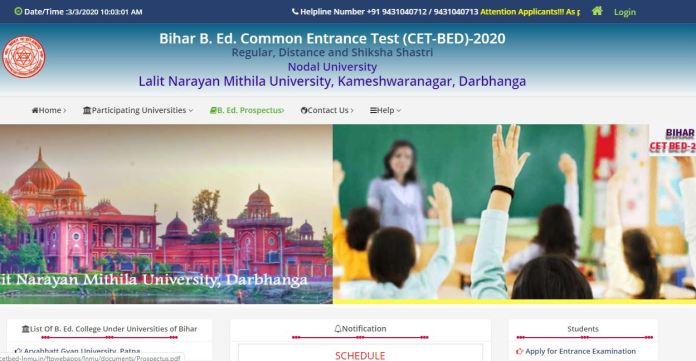 Bihar B.Ed CET Admit Card 2020