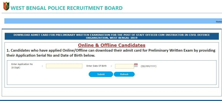 WB Police Staff Officer Admit Card 2020 Declared Soon   West Bengal Instructor Exam Date @ wbpolice.gov.in