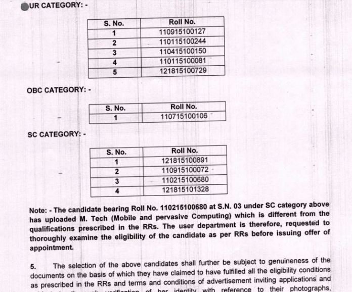 DSSSB PGT Computer Science Result 2020