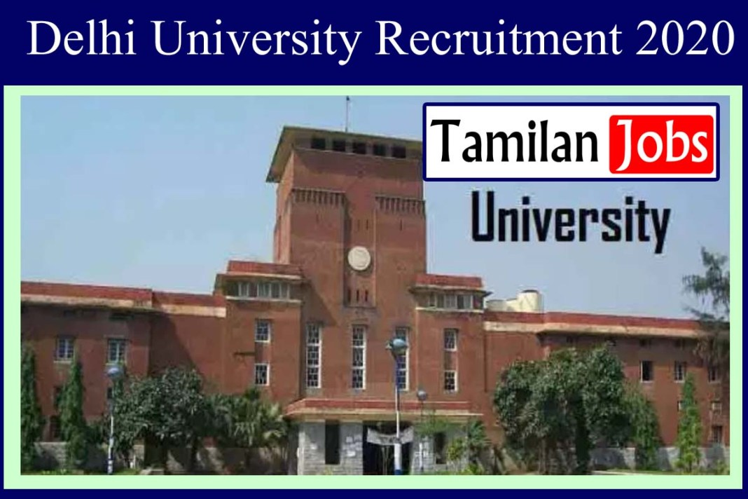 Delhi University Recruitment 2020