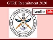 GTRE Recruitment 2020