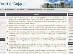 Gujarat High Court District Judge Mains Result 2020