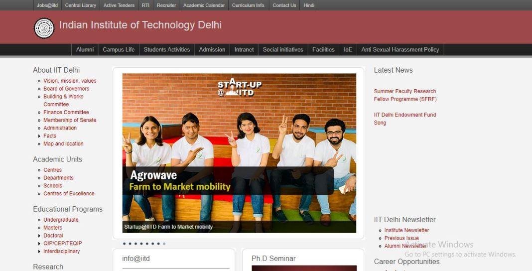 IIT Delhi Junior Assistant Admit Card 2020