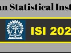 ISI Admission Test Syllabus 2020 PDF