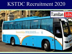 KSTDC Recruitment 2020