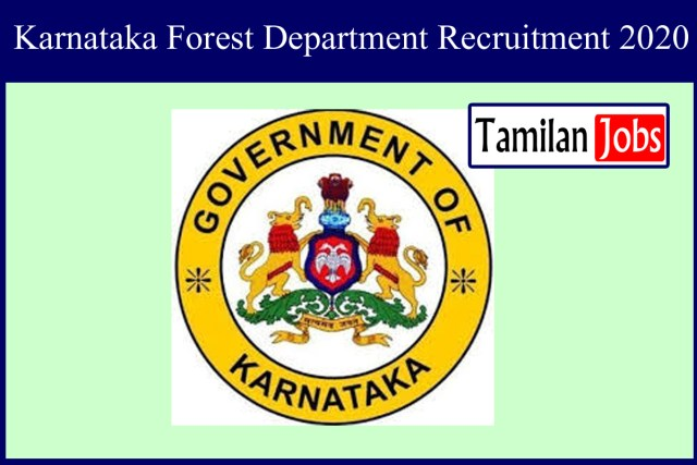 Karnataka Forest Department Recruitment 2020