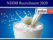 NDDB Recruitment 2020