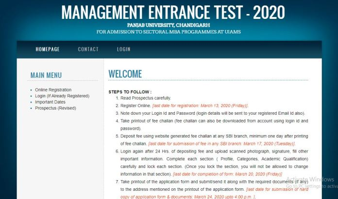 PU MET Syllabus 2020 PDF   Check UIAMS MET Exam Pattern