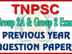 TNPSC Group 2 Previous Year Question Paper PDF