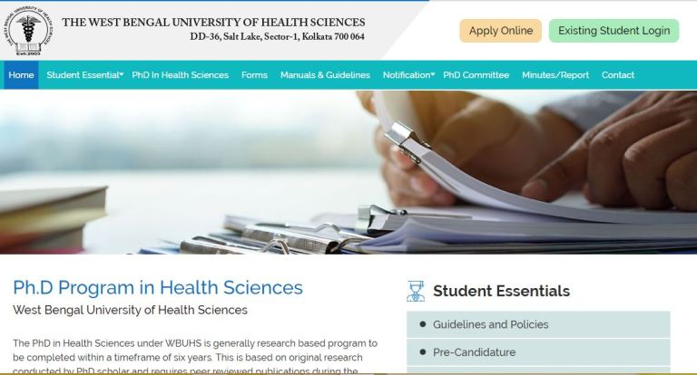 WBUHS RAT Admit Card 2020 Ready to Release Soon   Ph.D. Entrance Exam Date