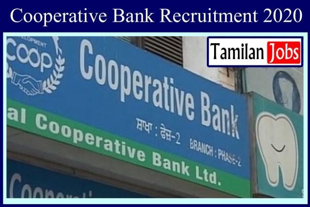 Cooperative Bank Recruitment 2020